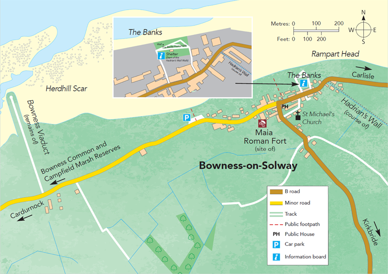 Bowness-on-Solway Map M