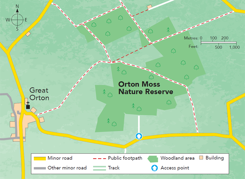 Orton Moss Nature Reserve Map M