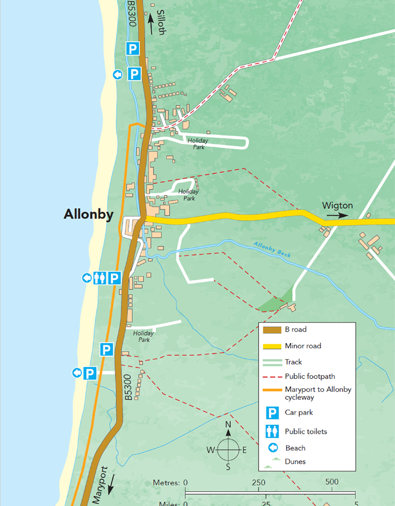 Allonby Map M
