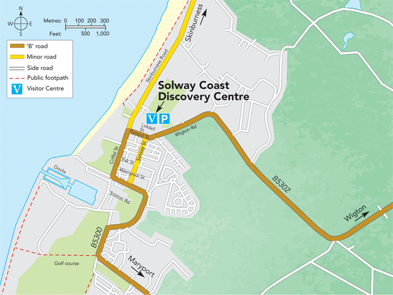 Discovery Centre,, Silloth, Map