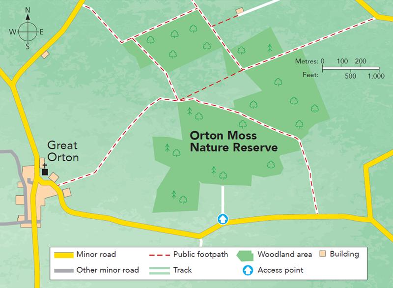 Orton Moss Nature Reserve Map M